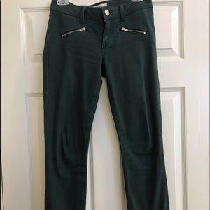 Cabi Hunter Green Zip Skinny's